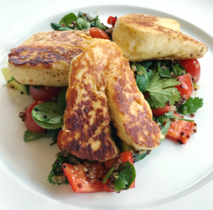 Halloumi and quinoa